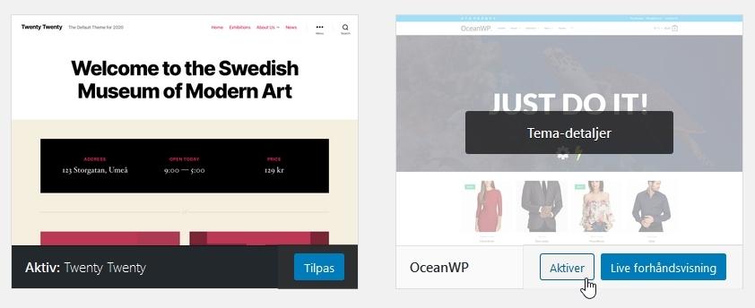 husk-min-hjemmeside-tema aktiver nyt tema