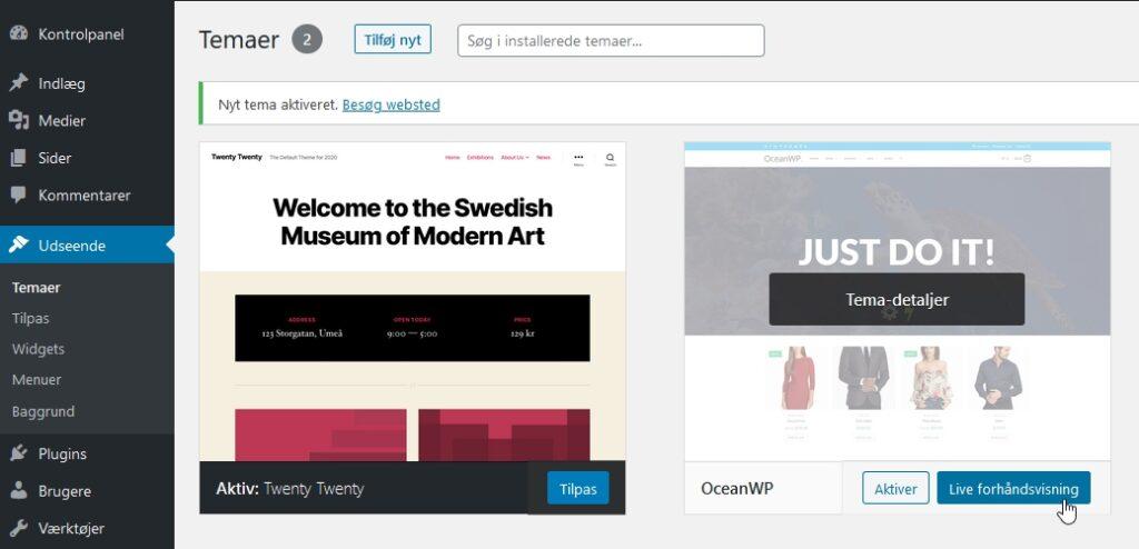husk-min-hjemmeside-tema forhaandsvis nyt tema