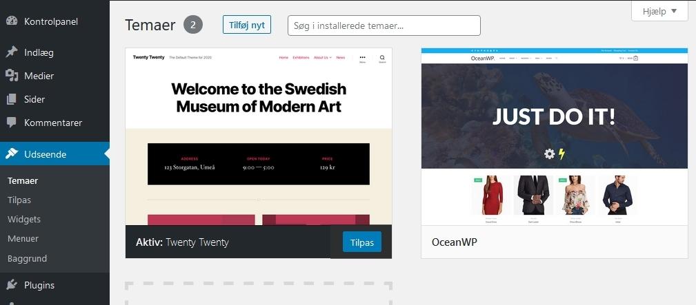 husk-min-hjemmeside-tema wordpress oversigt