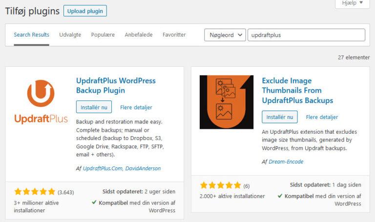 husk-min-hjemmeside-hmh updraftplus guide 1